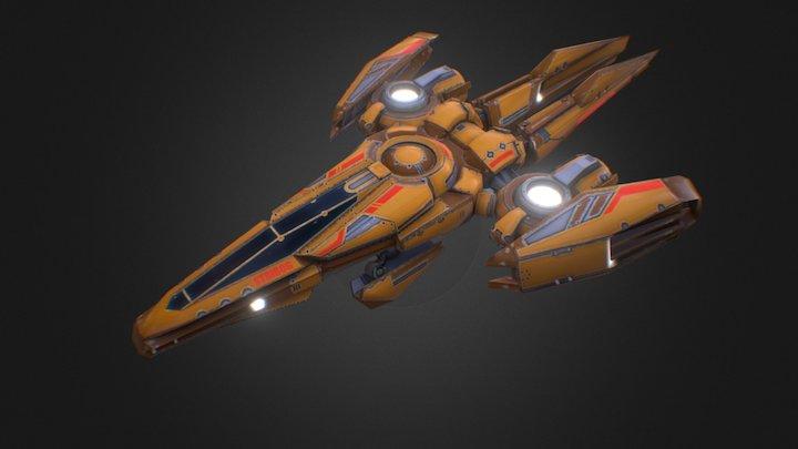 Stribog - spaceship 3D Model