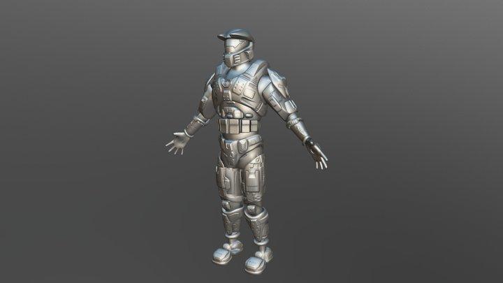 Halo Spartan Hard Surface Test 2018 3D Model