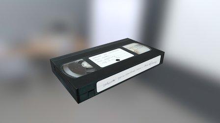 Simple VHS Tape 3D Model