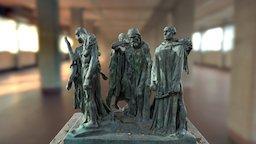 Les Bourgeois de Calais by Rodin 3D Model