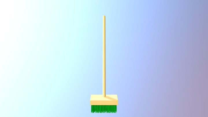 Deck Brush 3D Model