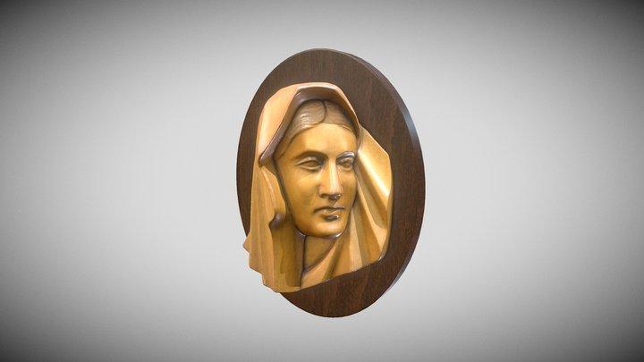 Wooden Virgin Mary 3D Model
