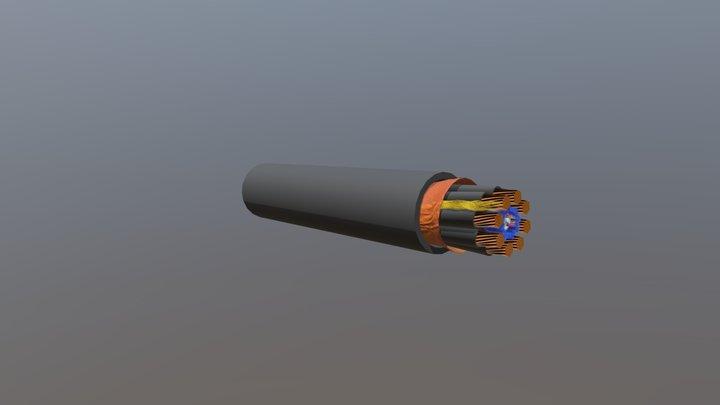 Custom 5G Fiber Cable 3D Model