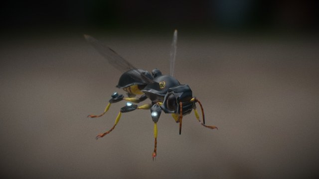 (new) Wasp Tech - Hive Wars video game 3D Model