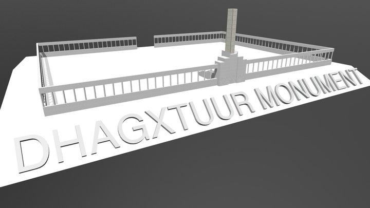Dhagaxtuur Monument 3D Model