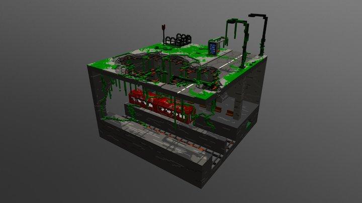 Subway. 3D Model