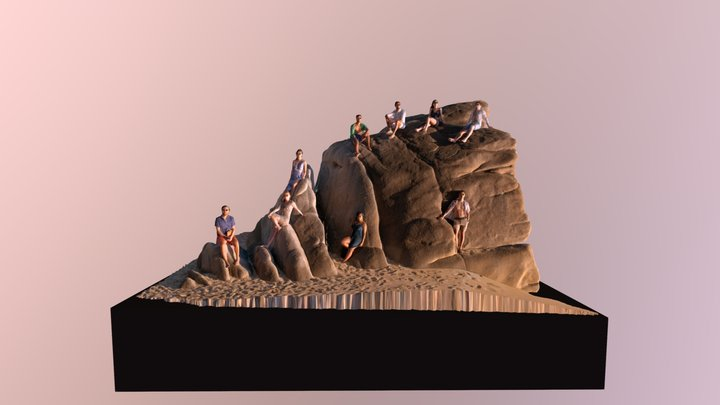 Sunset on the Rock 3D Model