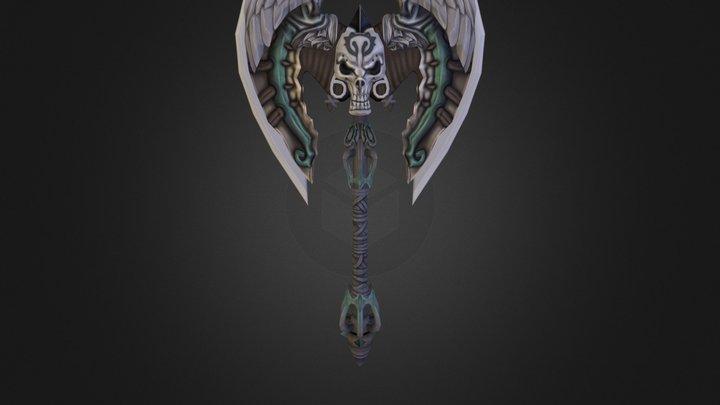 Skull Axe 3D Model