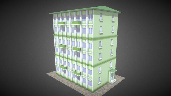 Apartment Building, 6 floors, var.2 3D Model
