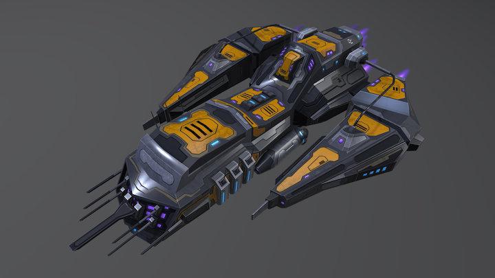 Spaceship H209-CC 3D Model