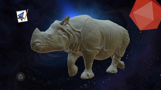 Luke Black_ Rhino Model Full size 3D Model