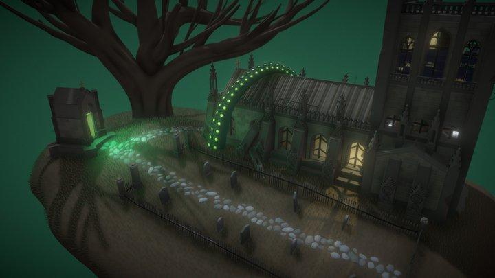 Mystical island 3D Model