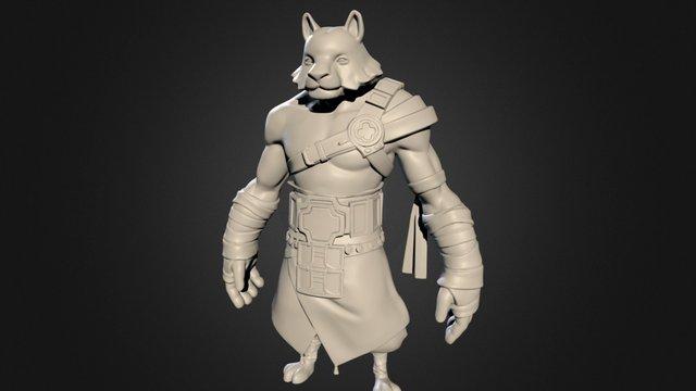 Tiger Warrior - Decimated 3D Model
