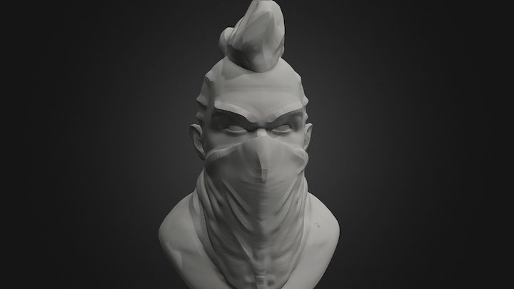 Fenu'Arena - Hero head - W.I.P 3D Model