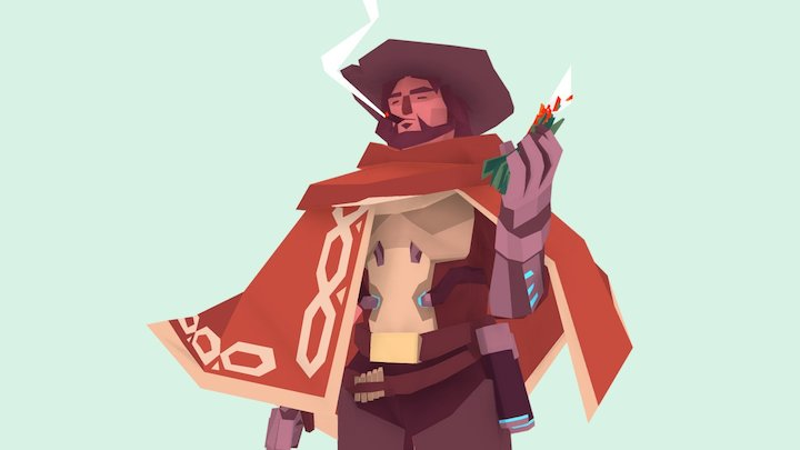 Low poly McCree 3D Model