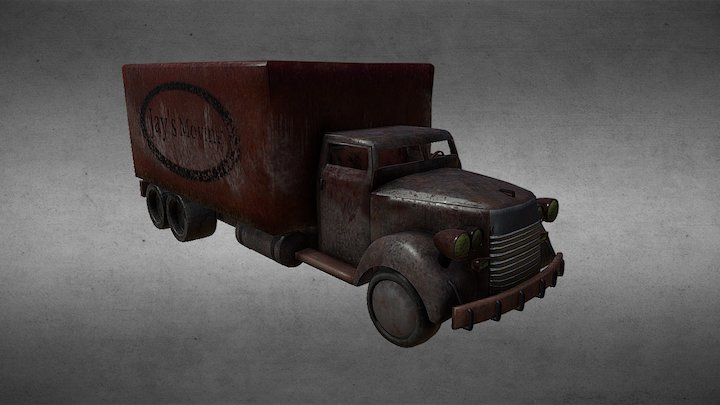 """Fallout Delivery Trucks """"Jay's Moving"""" 3D Model"""