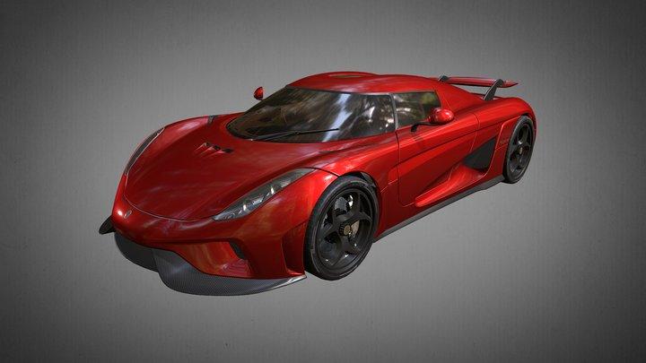 Koenigsegg Regera 2016 3D Model