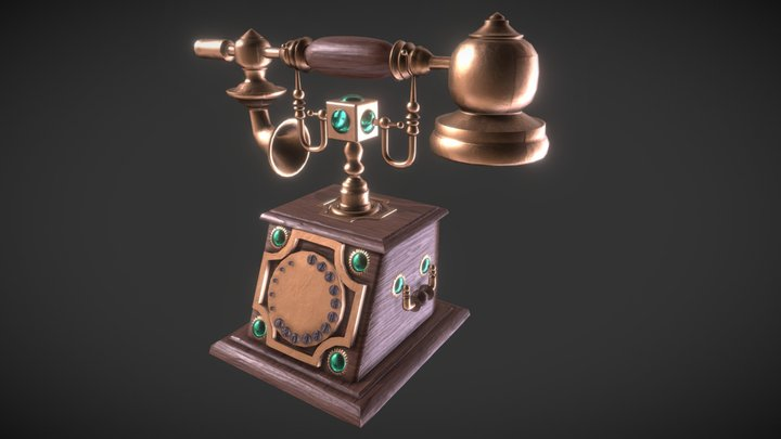 Vintage Telephone Nurbs Model 3D Model