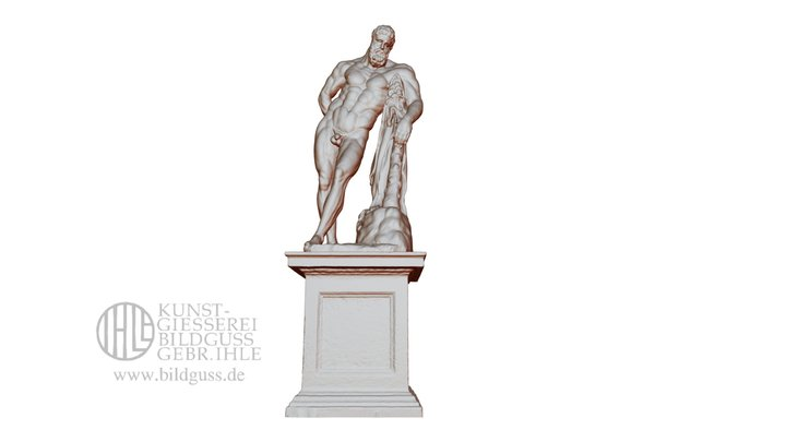 Herkules Farnese Im Barockgarten Grossedlitz Low 3D Model