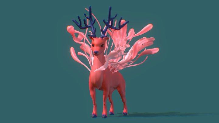 Fantasy Deer 3D Model