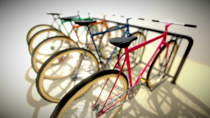 BICYCLE PARKING 3D Model