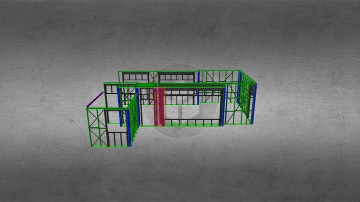 79 Fox Frames 3D Model