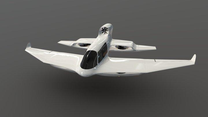 Ghost X V4 eVTOL flying vehicle 3D Model