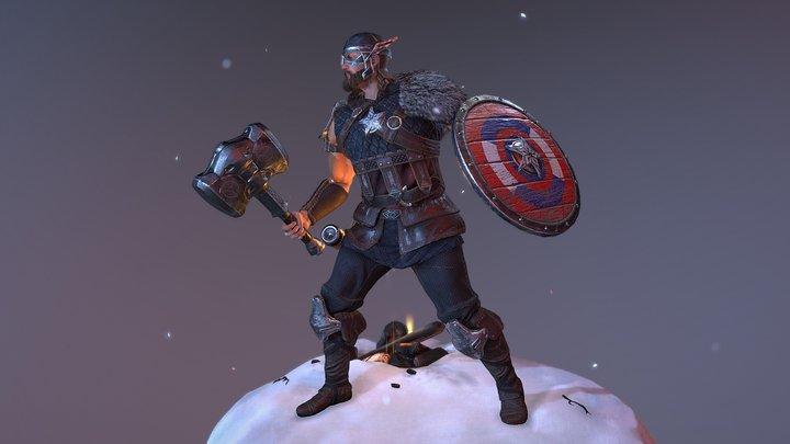Steven - Captain Viking 3D Model