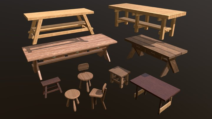 WorkBenches: Patreon 3D Model Archive 3D Model