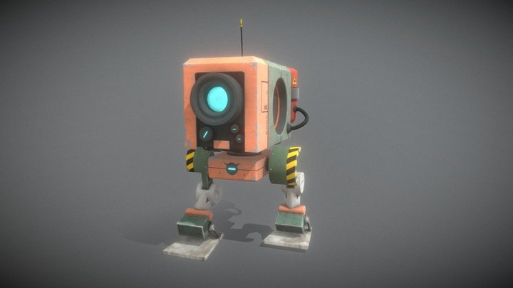 Biped robot with animation 3D Model
