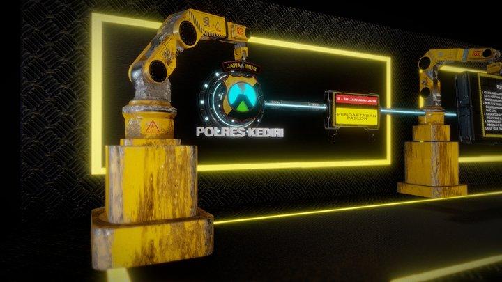 Animating Robot 3D Model