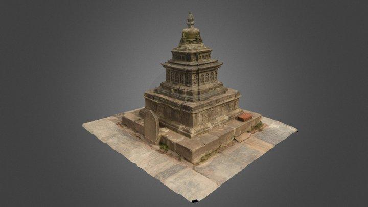 Small Chaitya at Swayambhunath 3D Model