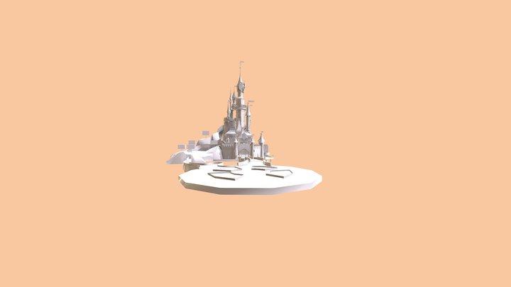 Château de Disneyland Paris sleeping beauty 3D Model