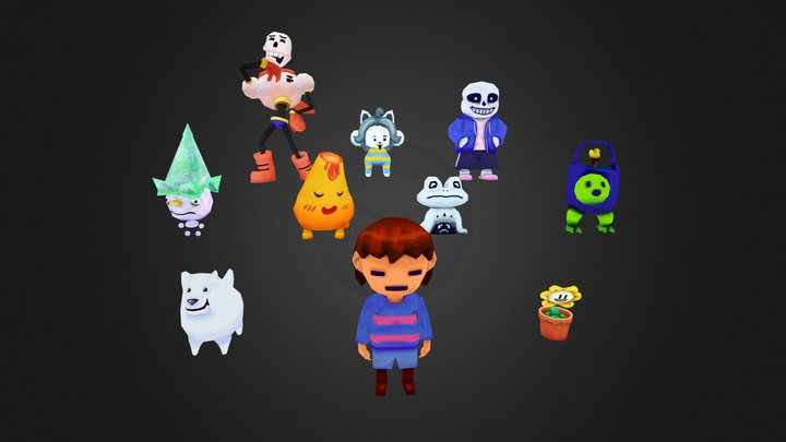 Undertale - Low Poly Animated Characters 3D Model
