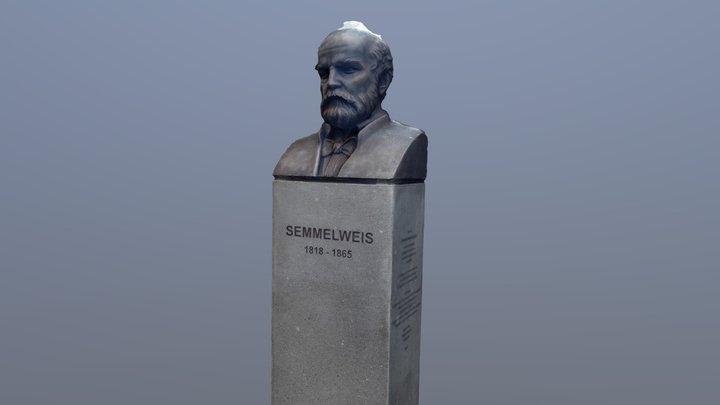 Semmelweis mellszobor Sapientia kertben 3D Model