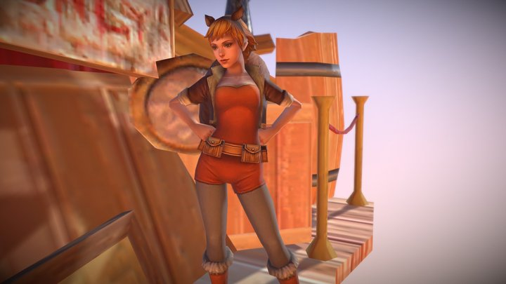 Squirrel Girl | With Animations | By Im HaxoTV 3D Model