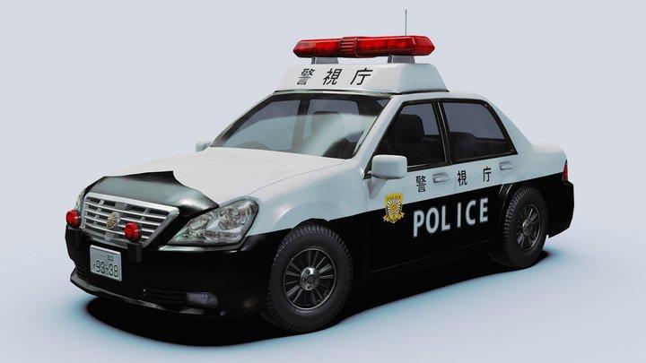 Japanese Police Vehicle 3D Model