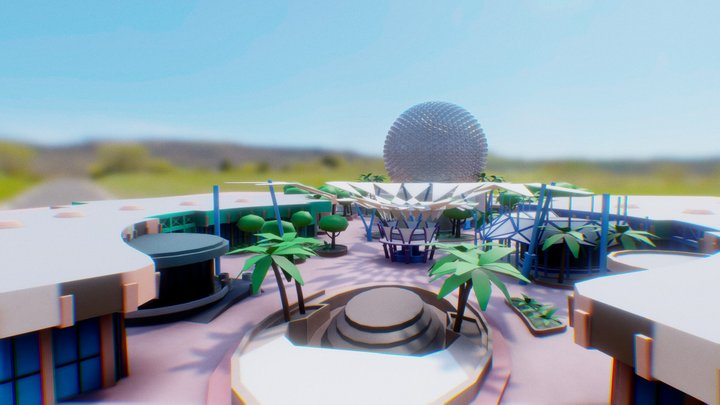 Epcot Futureworld - Disney World Theme Park - VR 3D Model