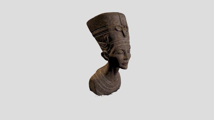 Low Poly Nefertiti bust 3D Model