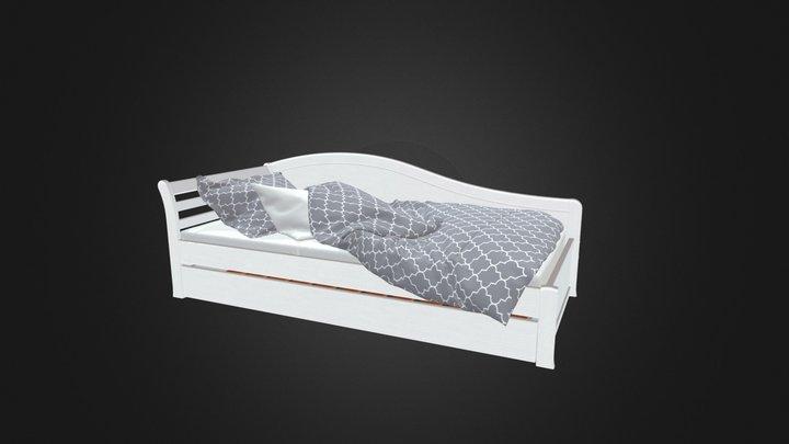 Эссен 2.0 кровать со спинкой 3D Model