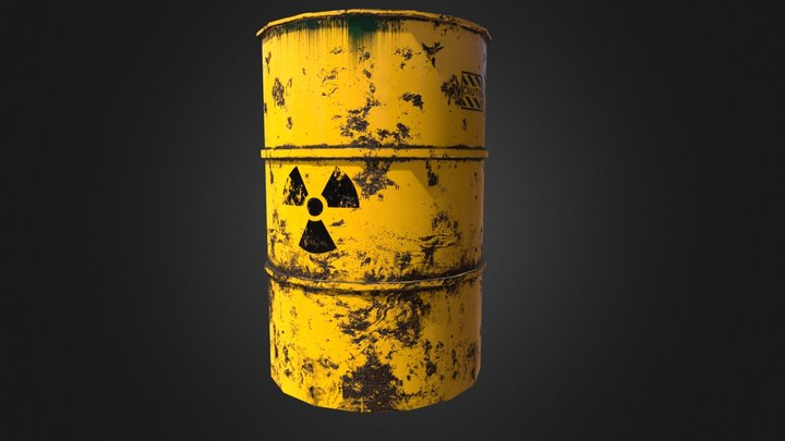 Radioactive Waste Barrel 3D Model