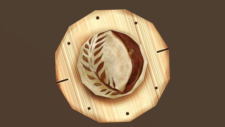 Pan Artesanal para el #Foodchallenge 3D Model