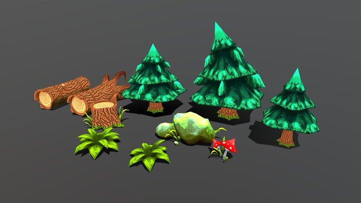 Summer forest (Model Pack 1) 3D Model