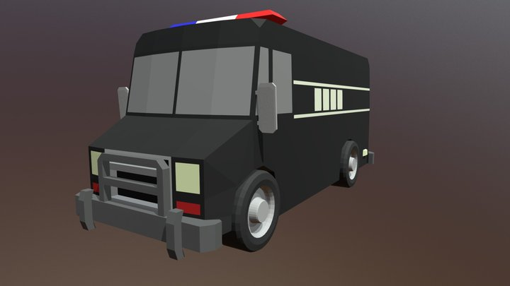 Police SWAT Van 3D Model
