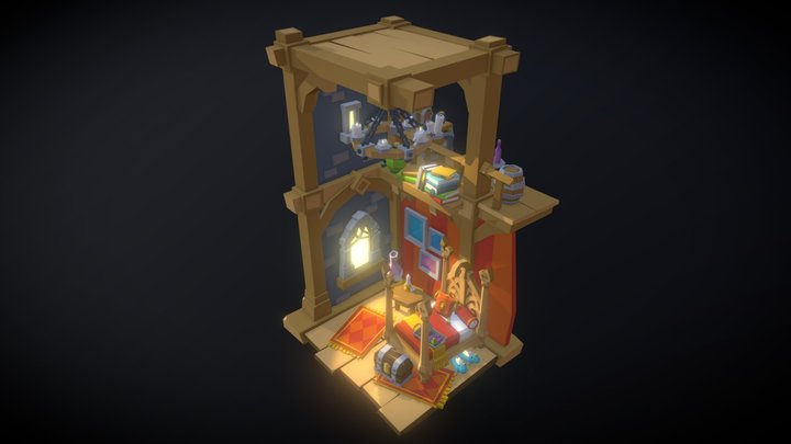 Elven Bedroom 3D Model