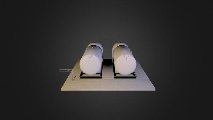 Storage Tanks 3D Model