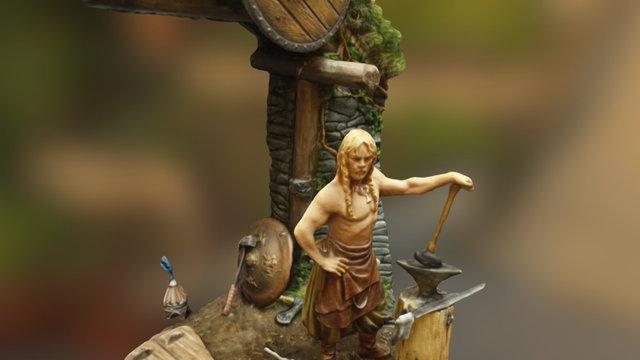 Forge Viking vue générale 3D Model