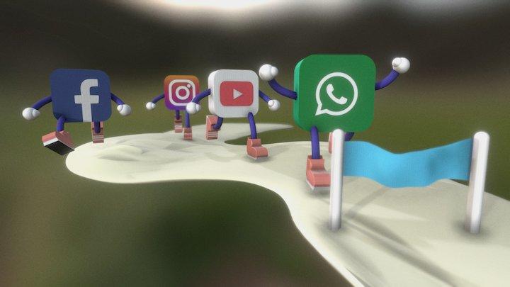 Competencia Redes Sociales 3D Model