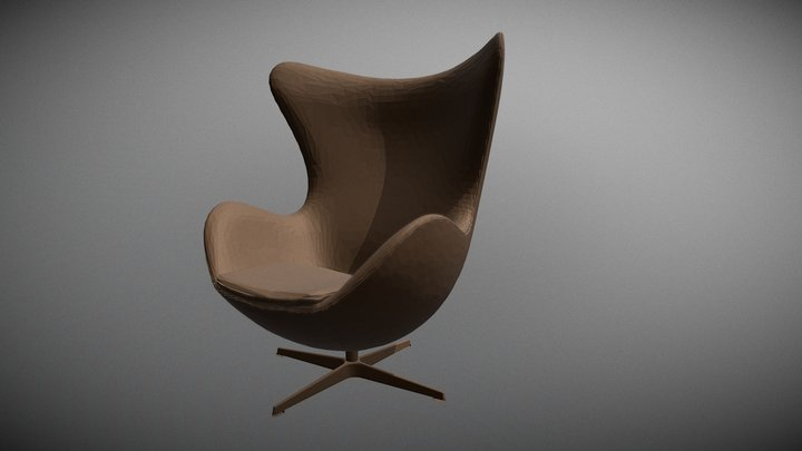 Cadeira Egg Chair Arne Jacobsen 3D Model
