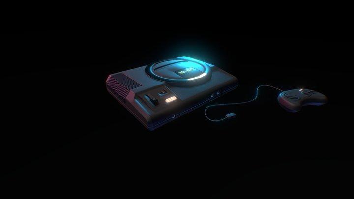 Retro Console 3D Model